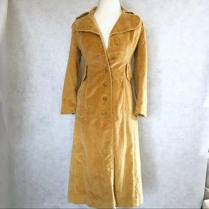 Vintage corduroy tan trench-coat